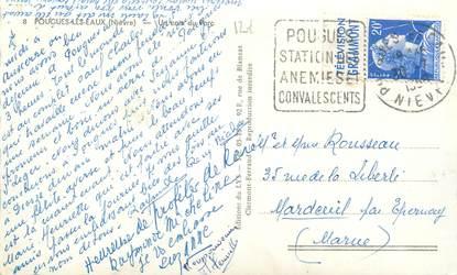 MARCOPHILIE FRANCE / BANDE PUBLICITAIRE sur CPSM 58 Pougues les Eaux