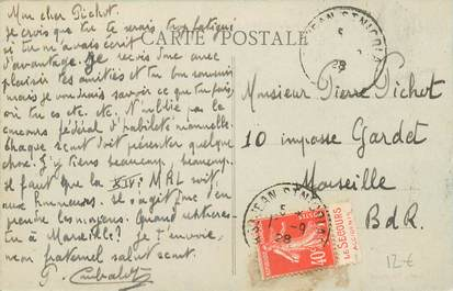 MARCOPHILIE FRANCE / BANDE PUBLICITAIRE sur CPA 04 Pont du Fossé