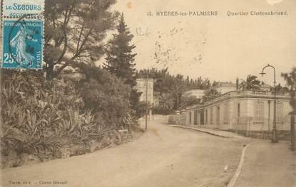 MARCOPHILIE FRANCE / BANDE PUBLICITAIRE sur CPA 83 Hyères