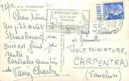 MARCOPHILIE FRANCE / BANDE PUBLICITAIRE sur CPSM 67 Strasbourg