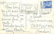 Marcophilie (Lettre Et Cartes) MARCOPHILIE FRANCE / BANDE PUBLICITAIRE sur CPSM 67 Strasbourg