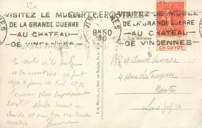 MARCOPHILIE FRANCE / BANDE PUBLICITAIRE sur CPA 94 Vincennes