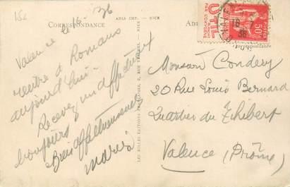 MARCOPHILIE FRANCE / BANDE PUBLICITAIRE sur CPA 26 Valence