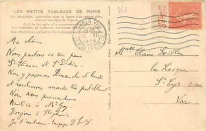 MARCOPHILIE FRANCE / BANDE PUBLICITAIRE sur CPA 75 Paris