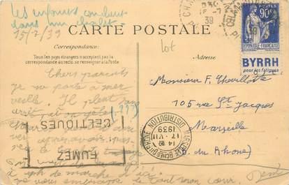 MARCOPHILIE FRANCE / BANDE PUBLICITAIRE sur CPA 63 Vallée de Chaudefour