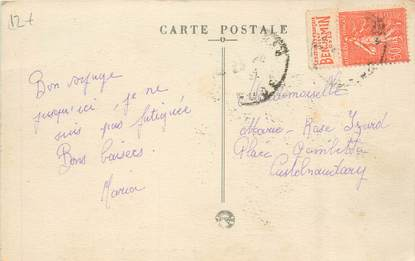 MARCOPHILIE FRANCE / BANDE PUBLICITAIRE sur CPA 11 Prouille