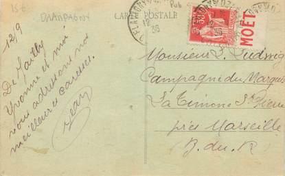 MARCOPHILIE FRANCE / BANDE PUBLICITAIRE sur CPA 21 Jailly les Moulins