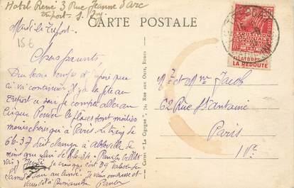 MARCOPHILIE FRANCE / BANDE PUBLICITAIRE sur CPA 76 Le Tréport