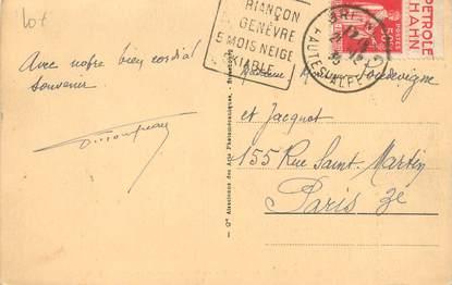 MARCOPHILIE FRANCE / BANDE PUBLICITAIRE sur CPA 05 Mont Genèvre