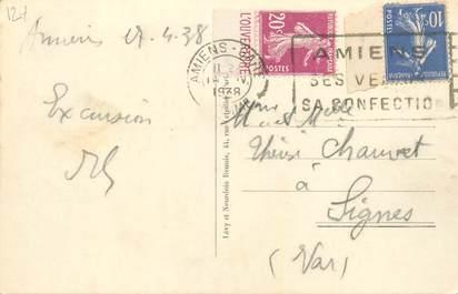 MARCOPHILIE FRANCE / BANDE PUBLICITAIRE sur CPA 80 Amiens