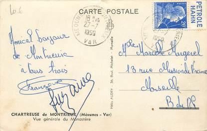 MARCOPHILIE FRANCE / BANDE PUBLICITAIRE sur CPA 83 Méounes