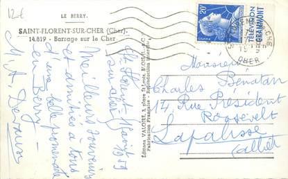 MARCOPHILIE FRANCE / BANDE PUBLICITAIRE sur CPSM 18 Saint Florent sur Cher