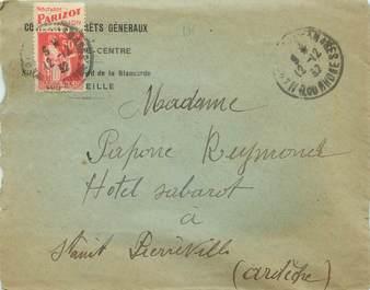 MARCOPHILIE FRANCE / BANDE PUBLICITAIRE sur lettre enveloppe 13 Marseille