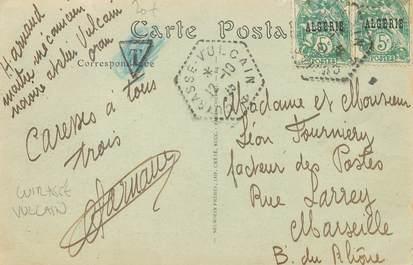 MARCOPHILIE POSTE MARITIME sur CPA / ALGERIE Oran / CUIRASSE VULCAIN