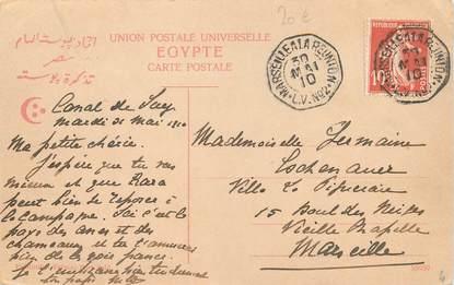 MARCOPHILIE POSTE MARITIME sur CPA / EGYPTE Groupe de Sakas au bord du Nil