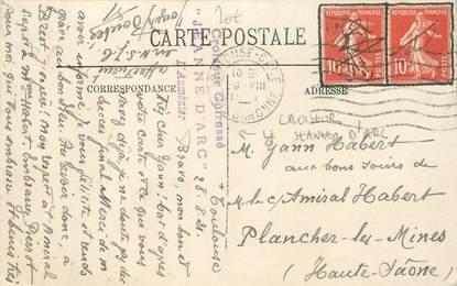 MARCOPHILIE POSTE NAVALE sur CPA FRANCE Toulouse / CROISEUR Le JEANNE D'ARC