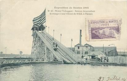 MARCOPHILIE VIGNETTE sur CPA FRANCE 44 Exposition de Nantes 1904