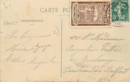 MARCOPHILIE VIGNETTE sur CPA FRANCE 54 Nancy Exposition Internationale
