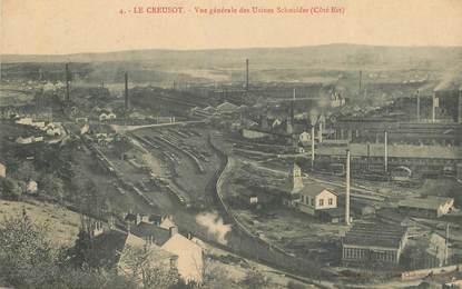 """CPA FRANCE 71 """"Le Creusot, vue générale des usines Schneider"""""""