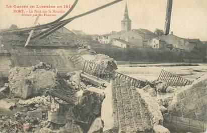 """- CPA FRANCE 54 """"Mont, Pont détruit"""""""