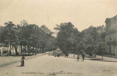 """- CPA FRANCE 88 """"Plombières, la Promenade des Dames"""""""