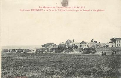 """- CPA FRANCE 54 """"Env. de Lunéville, la Fermùe de Saint Epvre bombardée"""""""