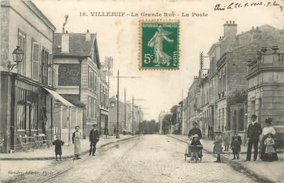 """- CPA FRANCE 94 """"Villejuif, la grande rue, la poste"""""""