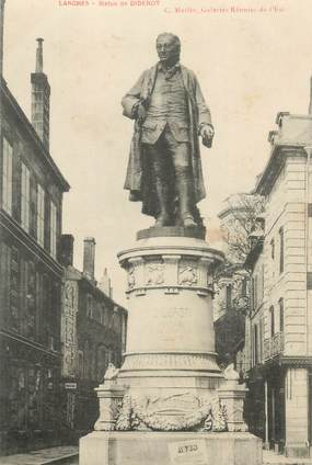 "- CPA FRANCE 52 ""Langres, Statue de Diderot"""