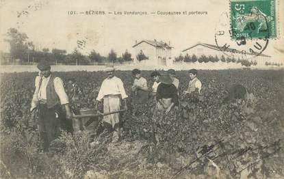 """- CPA FRANCE 34 """"Béziers, les vendanges"""""""