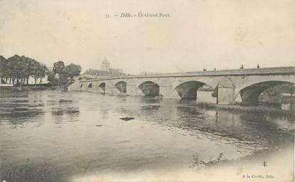 """- CPA FRANCE 39 """"Dôle, le grand pont"""""""