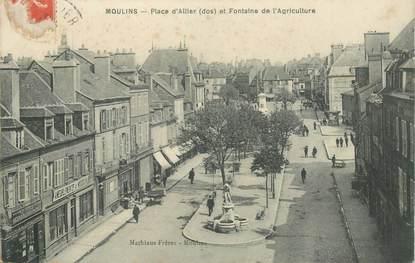 """- CPA FRANCE 03 """"Moulins, Place d'Allier"""""""