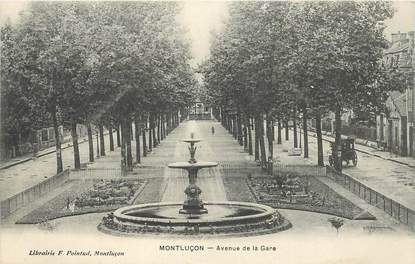 "- CPA FRANCE 03 ""Montluçon, avenue de la gare"""