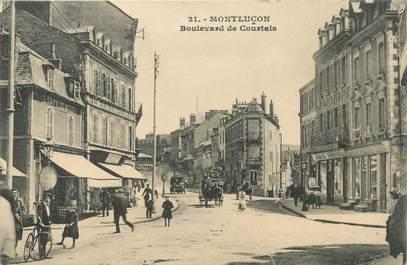 "- CPA FRANCE 03 ""Montluçon, Bld de Courtais"""