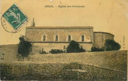 """- CPA FRANCE 34 """"Mèze, Eglise des Pénitents"""""""