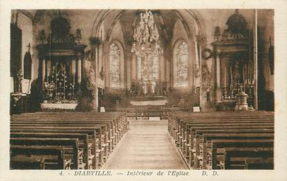 """- CPA FRANCE 54 """"Diarville, interieur de l'Eglise"""""""