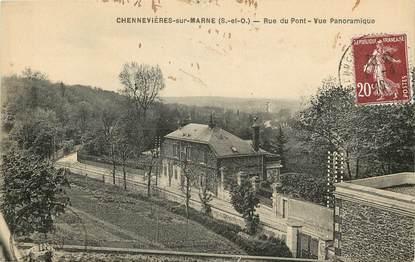 """CPA FRANCE 94 """"Chennevières, rue du Pont"""""""