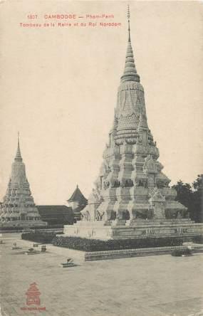 "CPA CAMBODGE ""Phom Penh, tombeau de la reine"""
