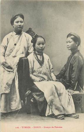 "CPA VIETNAM ""Tonkin Hanoi, groupe de femmes"""
