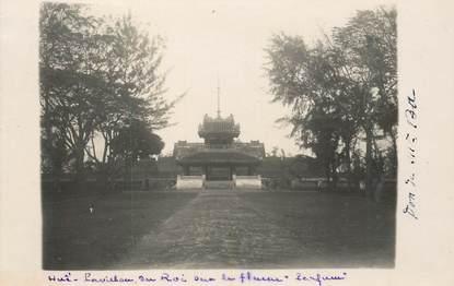 "CARTE PHOTO INDOCHINE ""Hué, Pavillon du Roi"""
