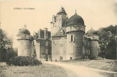 "CPA FRANCE 46 ""Aynac, le chateau"""
