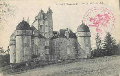 "CPA FRANCE 46 ""Aynac, le chateau"""