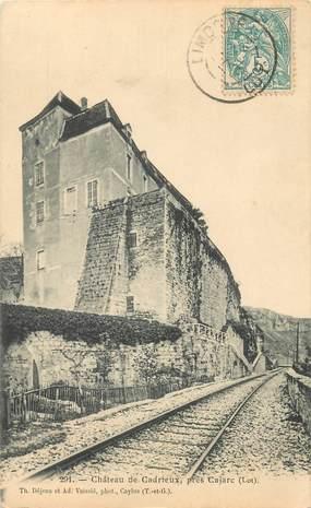 """CPA FRANCE 46 """"Chateau de Cadrieux"""""""