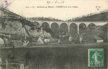 "CPA FRANCE 46 ""Courtils et le viaduc"""