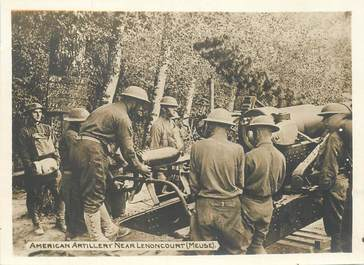 PHOTO ARMEE AMERICAINE A LENONCOURT (FRANCE 55) / ARTILLERIE CANON