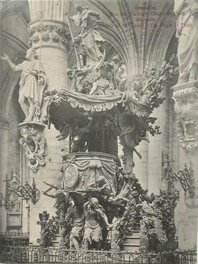"CPA PANORAMIQUE BELGIQUE ""Bruxelles, Eglise Sainte Gudule"""