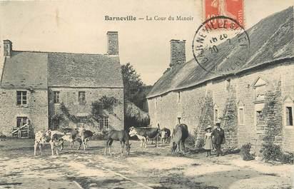 """/ CPA FRANCE 50 """"Barneville, le cour du manoir"""""""