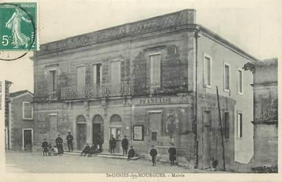"""CPA FRANCE 34 """"Saint Geniès des Mourgues, la mairie"""""""