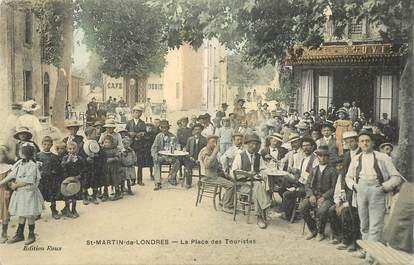 """RARE CPA COLORISÉE FRANCE 34 """"Saint Martin de Londres, la Place des Touristes"""""""