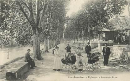 "CPA FRANCE 30 ""Sommières, Promenade Basse"""