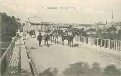 """CPA FRANCE 30 """"Sommières, Pont et Faubourg"""""""